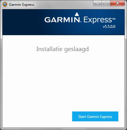 Start Garmin Express
