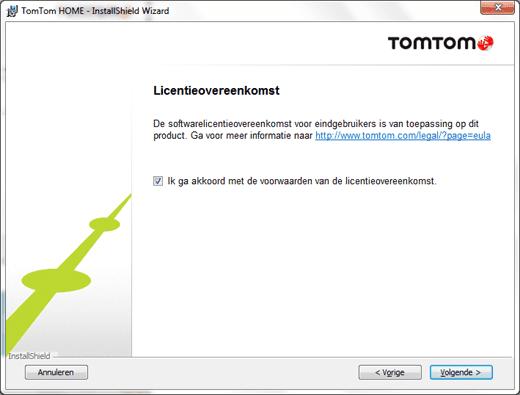 TomTom Home voorwaarden accepteren
