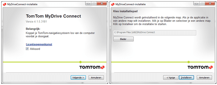TomTom MyDrive Connect installeren