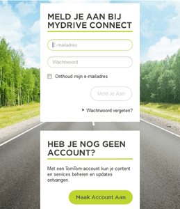 TomTom MyDrive Connect inloggen