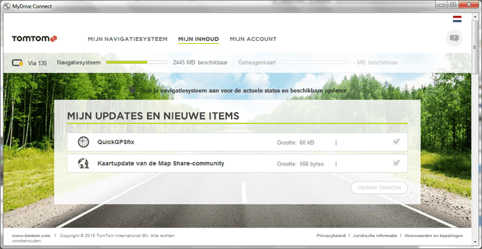 TomTom MyDrive Connect updates