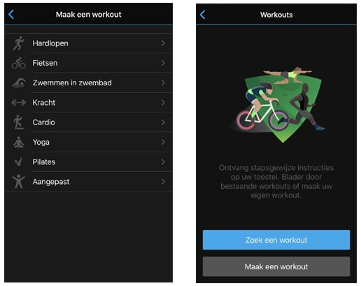 Garmin Connect Workout