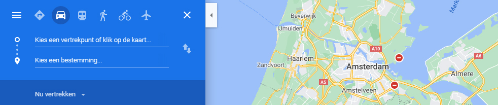 Google Maps route maken